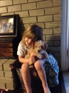 Ellie hugging Keller
